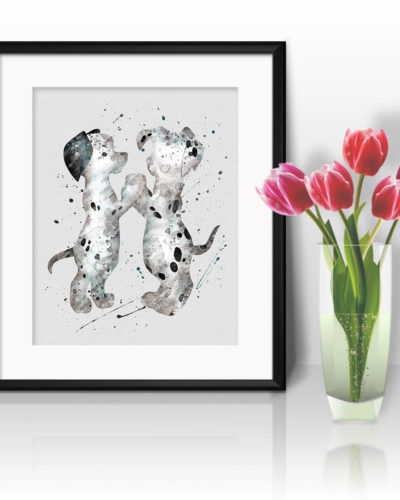 101 Dalmatians Watercolor Print, Dalmatians Art, Dog Art, Disney art, Nursery, Kids Room Decor, Wall Art