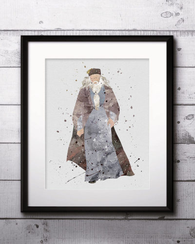 Albus Dumbledore Watercolor Print, Harry Potter Art, Harry Potter Painting, Harry Potter Painting, Nursery, Kids Room Decor, Wall Art