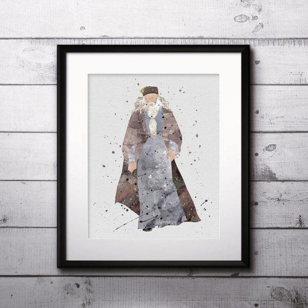 Albus Dumbledore Watercolor Print, Harry Potter Art, Harry Potter Painting, Harry Potter Painting, Nursery, Kids Room Decor, Wall Art