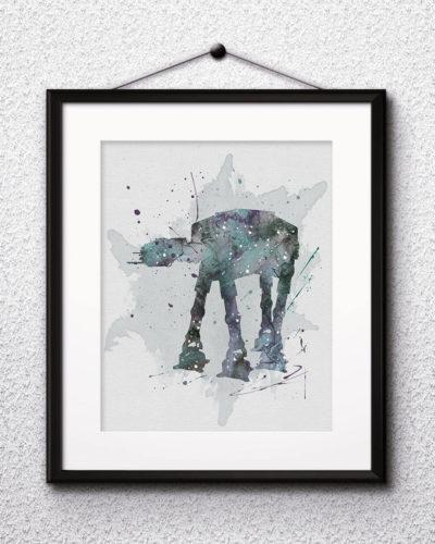 AT-AT Walker Watercolor Print, Star Wars Painting, Star Wars, Star Wars spaceships, Nursery, Kids Room Decor, Wall Art
