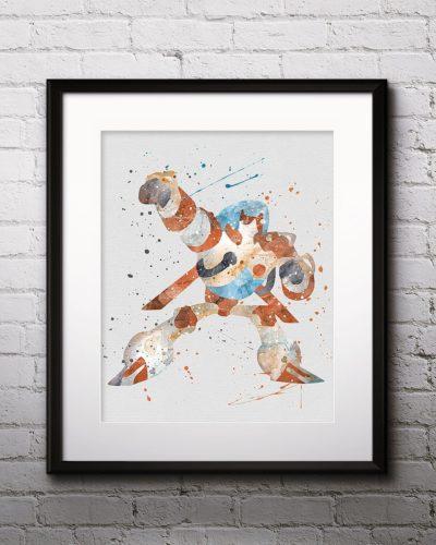Blades Watercolor Print, Blades Art, Blades Painting, Robot art, Transformers Painting, Anime Art, Nursery, Kids Room Decor, Wall Art