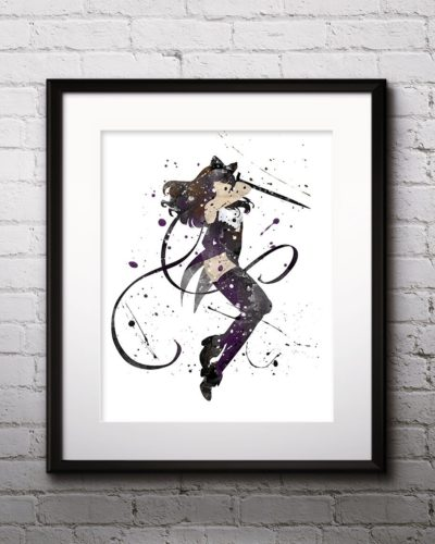 Blake Painting, RWBY Watercolor Print, RWBY Painting, RWBY Poster, Anime, Japanese Art, Manga Art, Nursery, Kids Room Decor, Wall Art