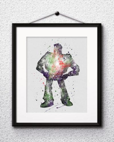 Buzz Lightyear Toy Story Watercolor Print, Toy Story Disney Art, Buzz Lightyear Art, Disney Art, Nursery, Kids Room Decor, Wall Art