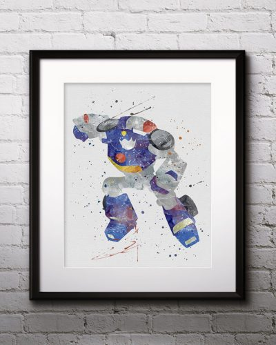 Chase Watercolor Print, Chase Art, Robot art, Transformers Painting, Anime Art, Nursery, Kids Room Decor, Wall Art