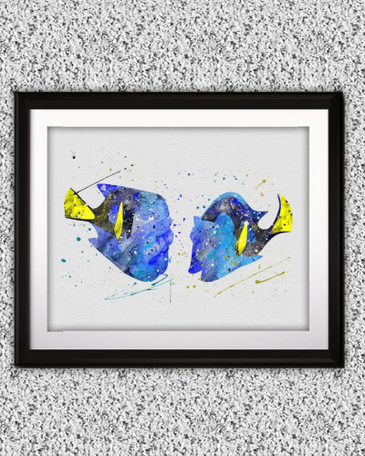 Finding Dory Watercolor Print, Finding Dory Art, Finding Dory Painting, Nemo, Fish Art, Disney art, Nursery, Kids Room Decor, Wall Art