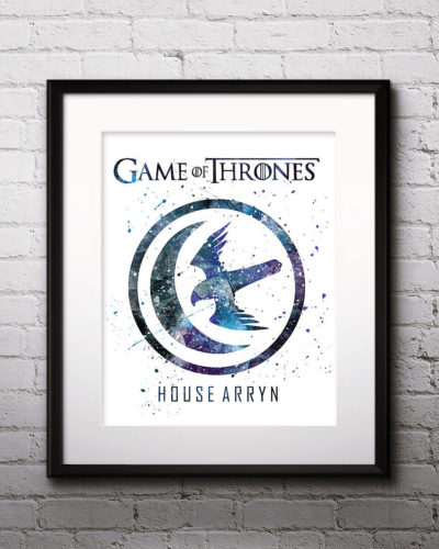 Game of Thrones Watercolor Print, House Arryn, Game of Thrones Insignia Art, Arryn Painting, Nursery, Kids Room Decor, Wall Art