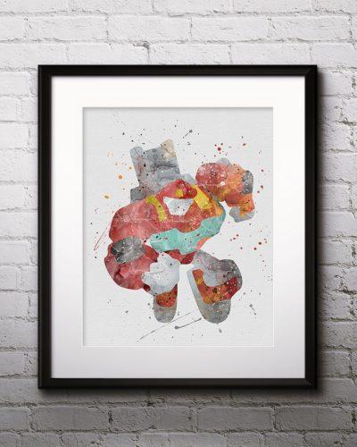 Heatwave Watercolor Print, Heatwave Art, Robot art, Transformers Painting, Anime Art, Nursery, Kids Room Decor, Wall Art