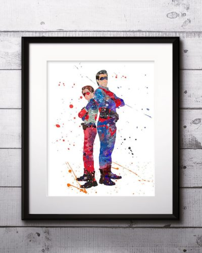 Henry Danger Watercolor Print, Henry Danger Painting, The Adventures of Kid Danger, Superhero Art, Nursery, Kids Room Decor, Wall Art