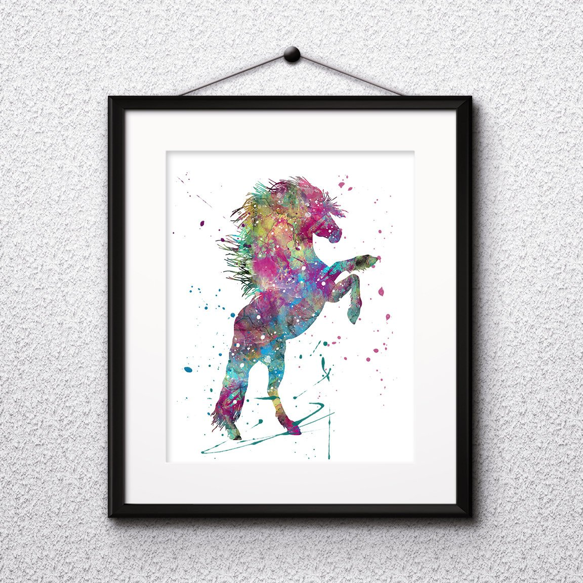 Horse Watercolor Print Horse Art Horse Painting Horse Poster Children Art Animal Art Nursery Kids Room Decor Wall Art Vivid Art Designs