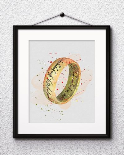 Lord of the Rings Watercolor Print, Lord of the Rings Print, Lord of the Rings Painting, Nursery, Kids Room Decor, Wall Art
