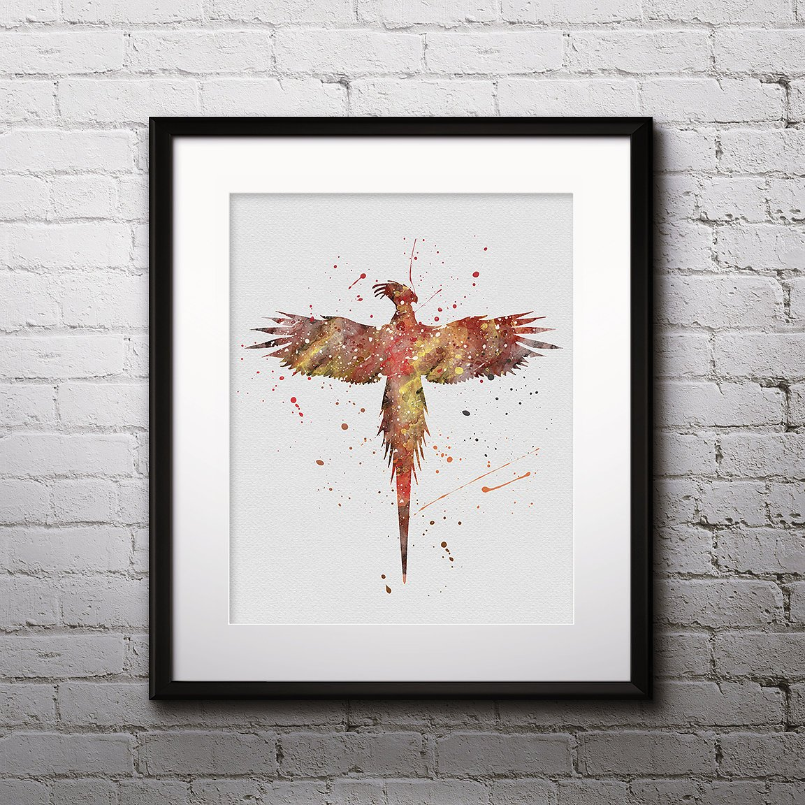 Kids Phoenix Painting Phoenix Watercolor Print Nursery Phoenix Fantasy Art