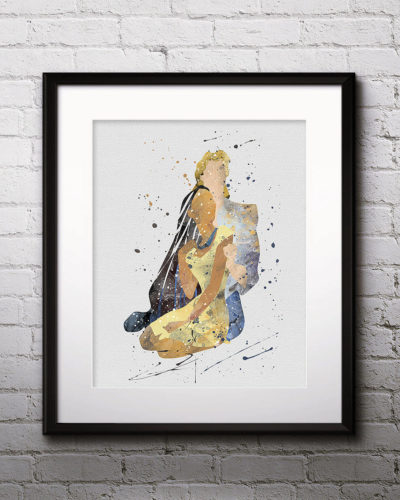 Pocahontas Watercolor Print, Pocahontas Disney Art, Pocahontas Painting, Princess Art, Disney Art, Nursery, Kids Room Decor, Wall Art