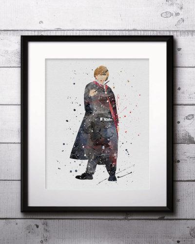 Ron Weasley Watercolor Print, Harry Potter Art, Harry Potter Painting, Harry Potter Painting, Nursery, Kids Room Decor, Wall Art