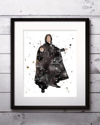 Severus Watercolor Print, Harry Potter Art, Harry Potter Painting, Severus  Painting, Nursery, Kids Room Decor, Wall Art