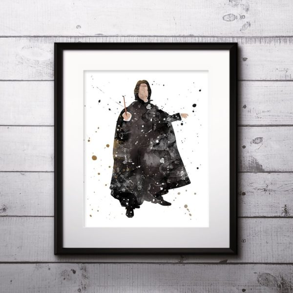 Severus Watercolor Print, Harry Potter Art, Harry Potter Painting, Severus  Painting, Nursery, Kids Room Decor, Wall Art